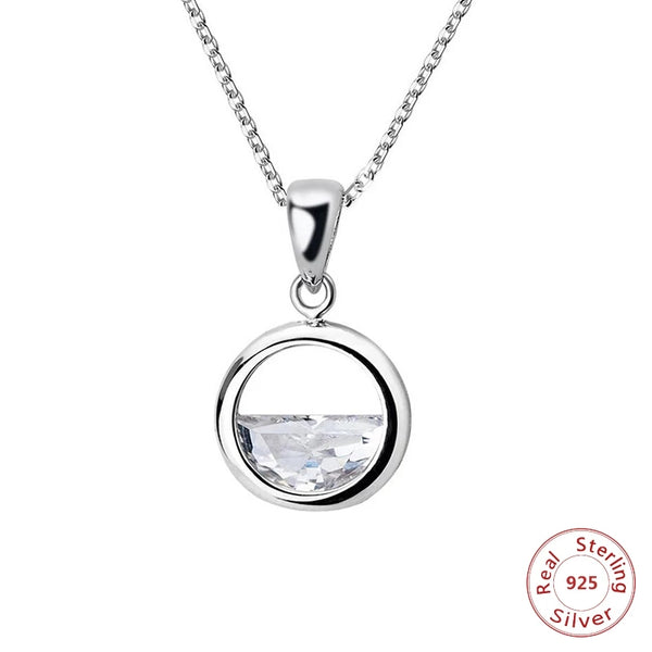 Women's Empowerment Necklace Symbolizing Breaking Shattering The Glass Ceiling .925 Silver & Broken Glass Women Jewelry Gifts Keepsakes Shatter