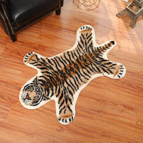 Faux Tiger Skin Rug Nursery Bedroom Children's Kids Baby Home Decor Jungle Safari Animal Rugs Accent