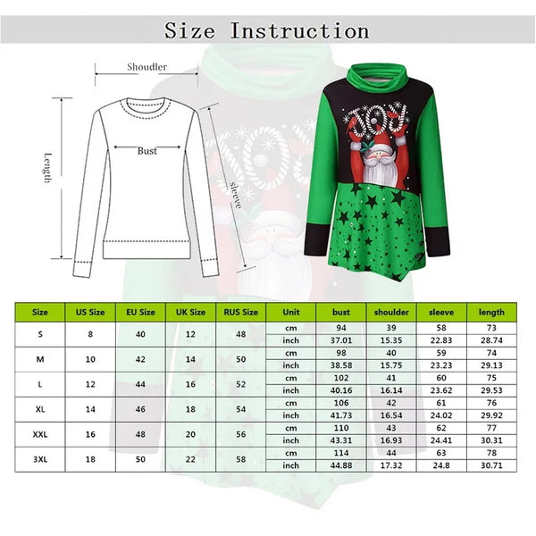 Womens Christmas Tops Santa Claus Joy Stars Teal Red Black Green Multi Size Sm to 3X Blusa Feminina Women's Holiday T Shirts Top Clothes