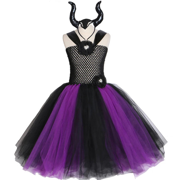 Descendants Fairy Tale Maleficent Mal Evie Girls Tutu Dresses Birthday Party Birthday Costume Dresses Custom Made Girl Kids Children's Girl's Dress Up Pretend Gifts Make Believe