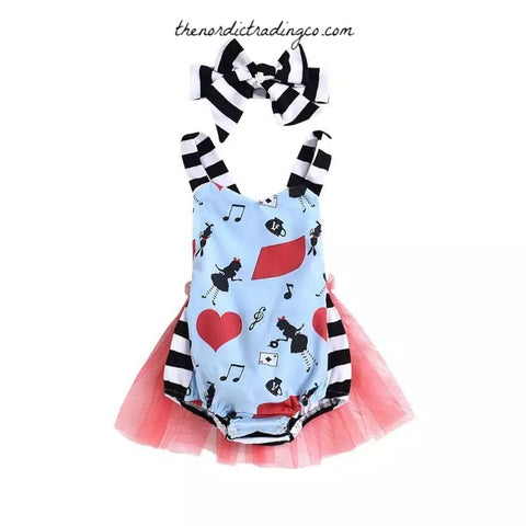 e9b86cffb633 Alice in Wonderland Tutu Romper Baby Girl's Outfits First Birthday Party Gifts  Girls Infant Toddler Baby