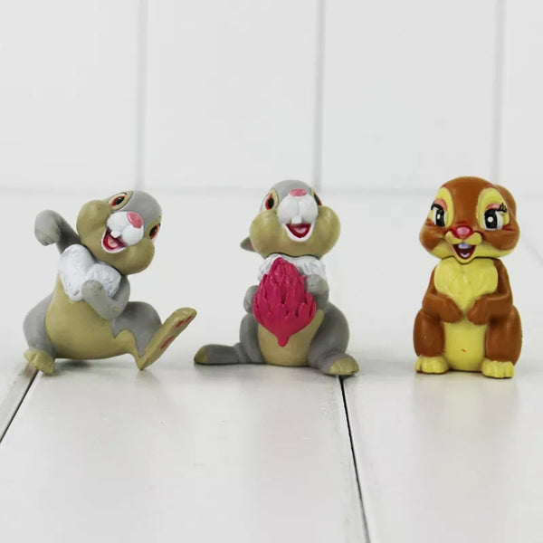 Bambi Thumper Flower Figurines Cake Toppers Desert Decorations Birthday Party Cake Smash Day One Favors Disney Friends Decoration Cupcakes Fr