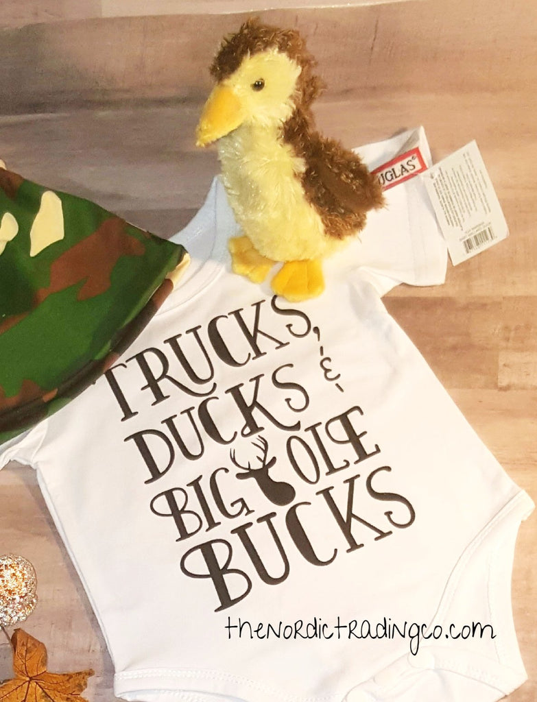 Trucks Ducks and Big Ole Bucks Infant Boys Gift Set