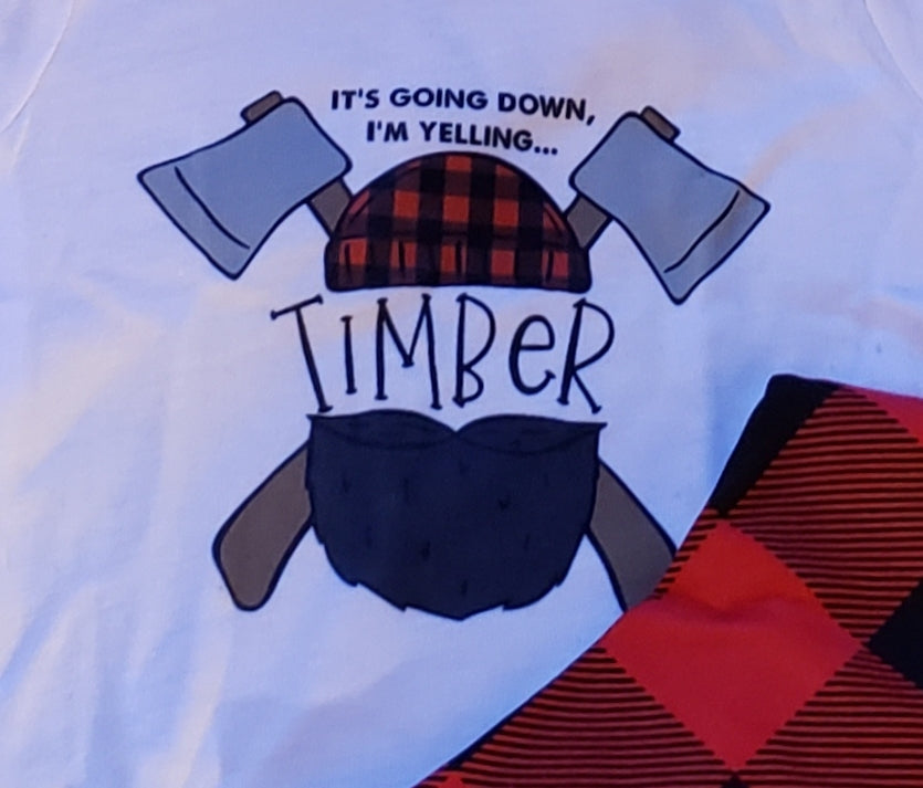 7c8b94271 ... Lumberjack Baby Boy or Girl Outfit Buffalo Plaid Onesie Hat Bib Boys  Baby Shower Gift Outfit