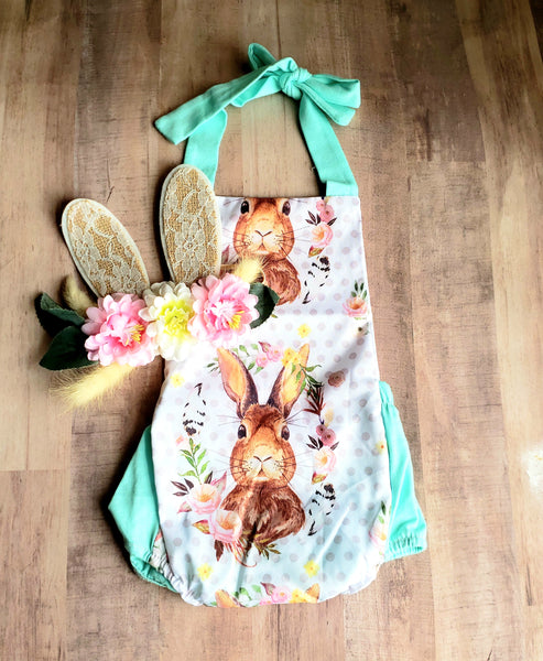 Bunny Baby Onesie & Headband Newborn Infant NEW Easter Bodysuit 0/3 mo Kids Girl's Girls Clothes Baby Shower Gift Ideas