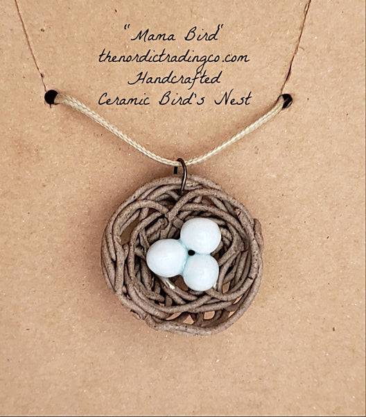 Gifts for Mom Handcrafted Bird Nest Pendant Necklace Womens