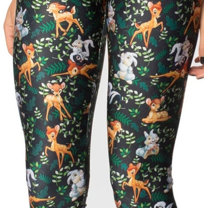 Bambi Thumper Women's Stretch Leggings Yoga Gym Run Sports Pants Deer Rabbit Disney Vacation Birthday