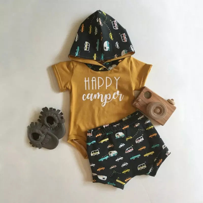 Camping Baby Outfit Adventure Baby Gender Neutral Baby Clothes Happy Camper Baby Bodysuit Baby shower gift Baby Gift Camping Boy