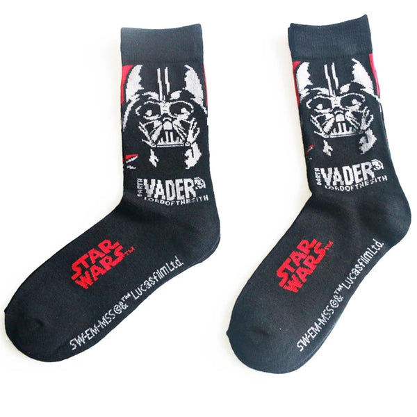 Star Wars Socks Yoda Darth Vader 2 Pair Gifts Geek Fan Gift Christmas Stocking Stuffers White Elephant Secret Santa Exchange Men's Women's