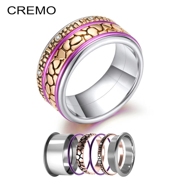Interchangeable Womens Stacking Ring Endless Combinations Stacking Jewelry Women's Rings Base Starter Set Gifts for Women