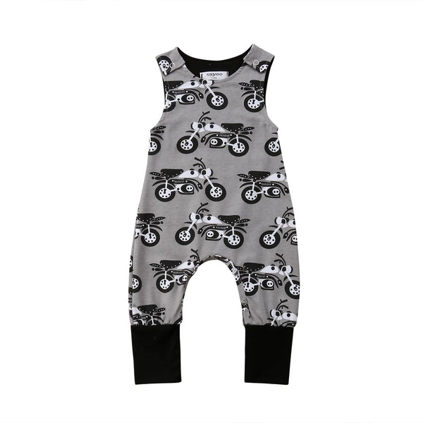 Boy's Overall Romper Motorcycle's Biker Boy Overall Clothes Baby Shower Gift Ideas Infant Newborn Babies Rocker Clothing