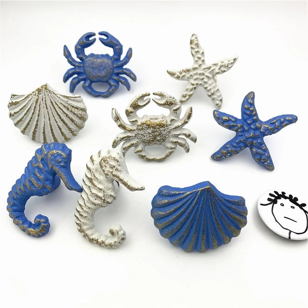 Drawer Pulls Cabinet Knobs Coastal Mediterranean Cast Iron Hardware Home Interior Decorating DIY Project Renovation Upcycle Home Decor