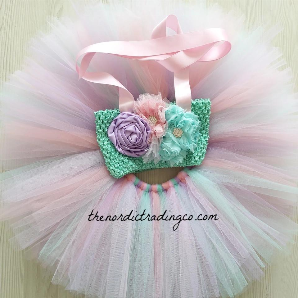 e3b06c71b ... Baby Girl First Birthday Set Little Mermaid Boutique Tutu Skirt Set  Under the Sea First Birthday ...