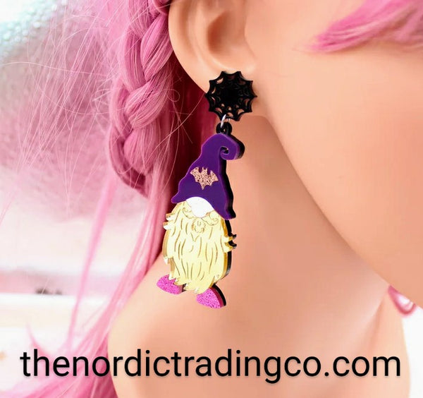 Halloween Gnome Christmas Gnome Earrings Holiday Party Accessories Womens Jewelry Gifts 2 Pair Pierced Earring BOGO Xmas Gnomo Zarcillo Mujer Pendientes