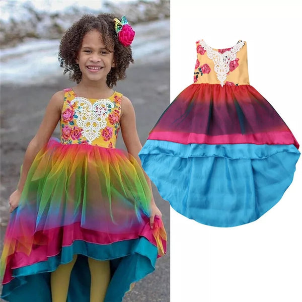 Finding Rainbows Girls Hi Lo Festival Fun Dress thenordictradingco.com
