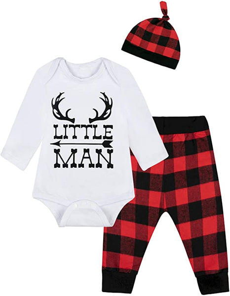 Little Man First Father's Day Gift Newborn Boys Clothing
