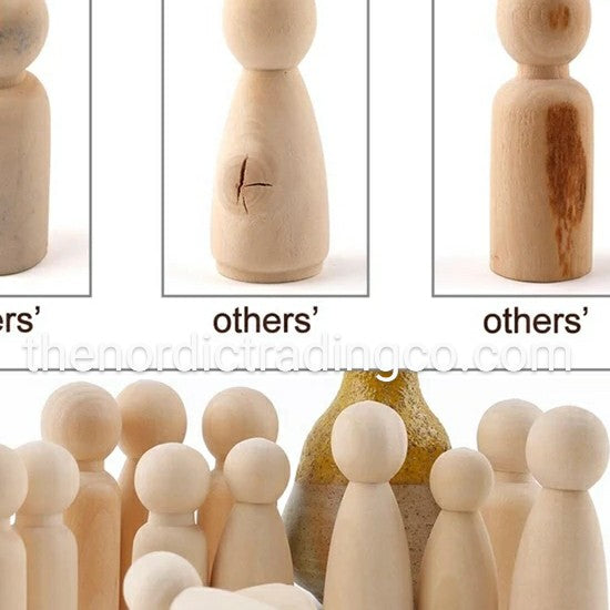 DIY Family Wood Peg Doll People Kit Mom Dad Brother Boy Sister Girl Baby U Create Paint Imagnitive Art Crafts
