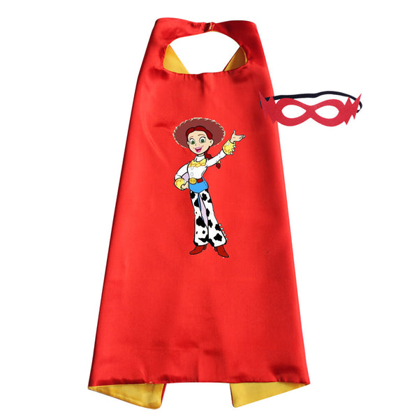 Character Capes Inspired by Toy Story Heros Woody Jessie Buzz Lightyear Halloween Costume / Birthday Party Favors Kids Christmas Gifts Childrens Toys Gift