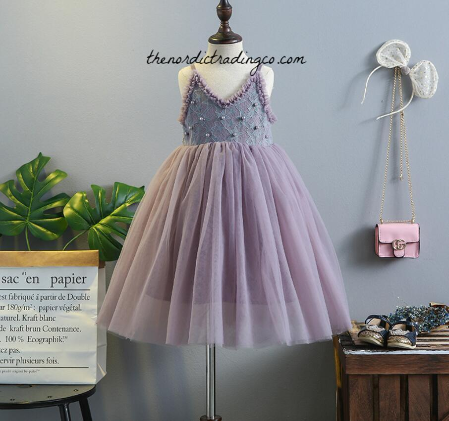 Upon A Star Fairy Tale Flower Girls Photo Shoot Dress Girl's Dresses 3 Plum Colors Blue Desert Rust sz 2T 3T 4 5 6 Stars Pearls Chiffon Tulle Toddler Little Girls