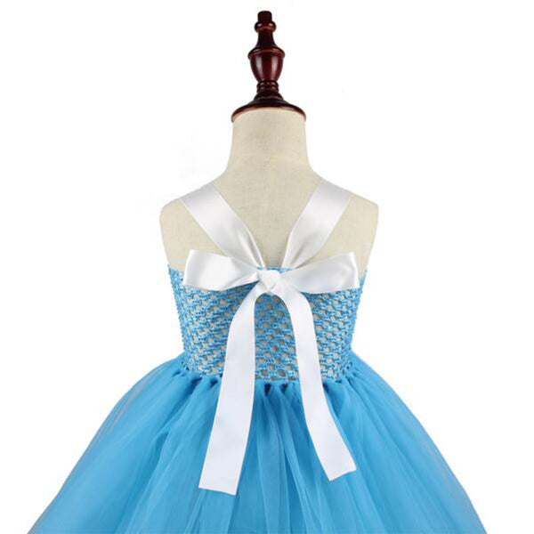 Alice in Wonderland Girls Tutu Dress Birthday Pageant Halloween Costume Pretend Play Dress Up Short Knee or Tea Length Party