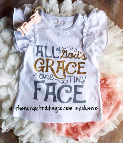 All Of Gods Grace In One Tiny Face Toddler T-Shirt