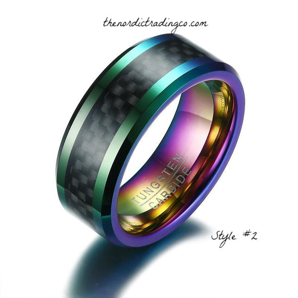 Wedding Rings LGBT Life Partner Jewelry Silver Titanium Rainbow Center Groove Unisex Pride Ring Men Women Promise Engagement Rings Bands Jewelry 2 styles
