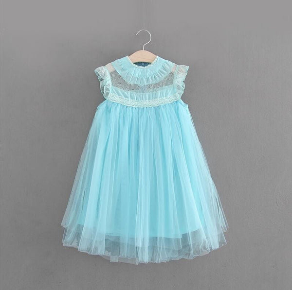 2017 Haute Couture Toddler and Little Girl's Dresses Lilac Lavender Pink Blue Ruffle Accented Lightly Smocked A Line Dress Flower Girl Easter Spring Portraits sz 2T - 6 Children's Clothes Apparel Flower Girl