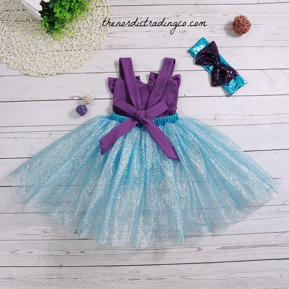 dc1b6c05dd9 ... Aqua Blue   Purple Mermaid Tutu Romper Dress Baby Girl s Party Dresses Cake  Smash Birthday Sequin