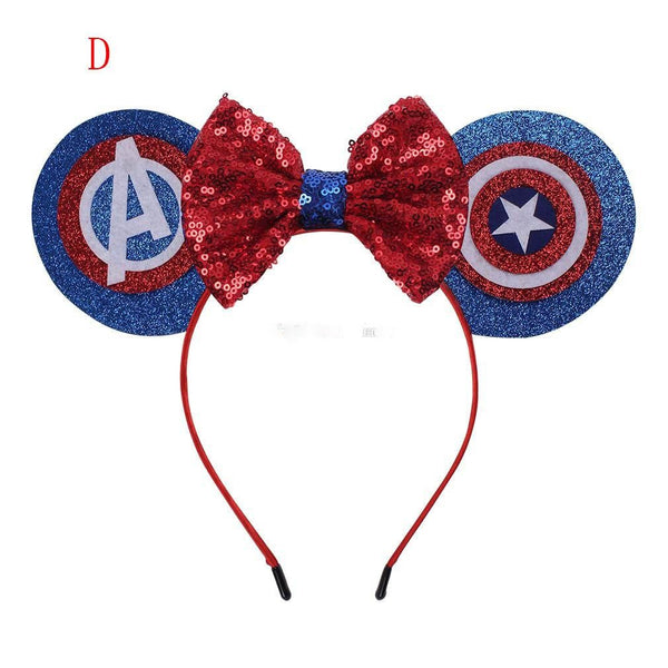 Avengers Super Hero Tutu Girl's Halloween Costume Dress Birthday Party Captain Marvel Mickey Ears Headband Dresses Girl Girls Kids Costumes