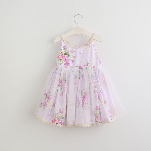 Baby Toddler Girl's Shabby Chic Dress Roses & Lace, Pink Blue Lilac sz. 2T-6 Girl Children's Flower Dresses USA Shipping