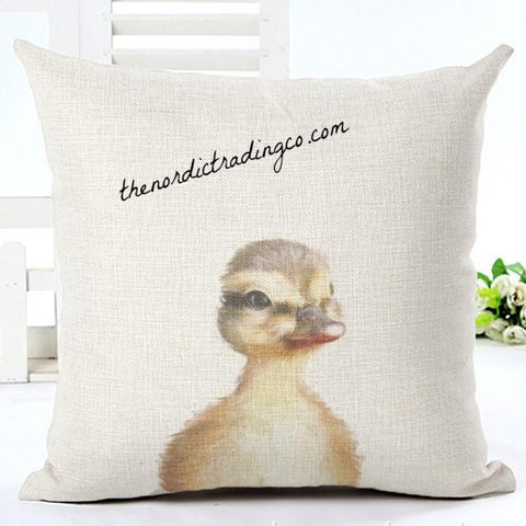 Baby Duckling Pillow Cushion Cover A-D-O-R-A-B-L-E Nordic Home Decor Farmhouse Easter Baby's Nursery Interior Design Barnyard Animals