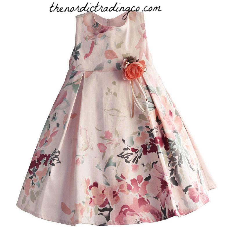 7223b1ea5469 Blush Roses Elegant Girl's Toddler Baby Dress Flower Girl Dresses East –  thenordictradingco.com