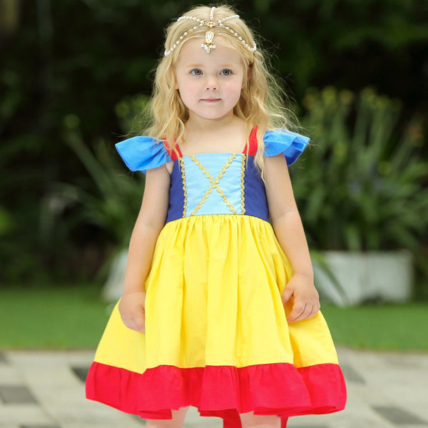 First Birthday Princess Party Dresses Girls Costume Dress Rapunzel Snow White Ariel Little Mermaid Dress Up Pretend Play Baby Toddler Halloween Costume Clothing Kids Parties