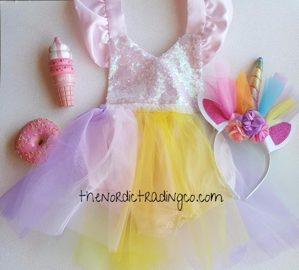 8598dad3616c ... Baby Girl's Iridescent Sparkles Tutu Dress Romper 12-18 mo Great 1st Birthday  Outfit Free ...