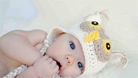 dad5c496b Bright Eyes Infant Girl's Ivory Yellow Owl Hat Cute Butterfly Newborn Beanie  Braids Tassels Baby Shower