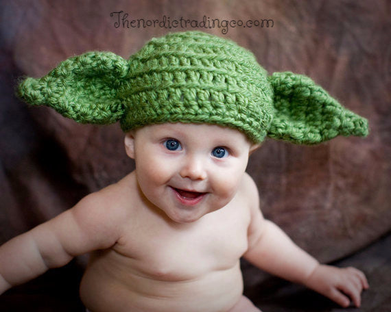 Handmade Crochet Infant Baby Yoda Hat Star Wars Inspired Adorable Hal u2013 thenordictradingco.com  sc 1 st  thenordictradingco.com & Handmade Crochet Infant Baby Yoda Hat Star Wars Inspired Adorable ...