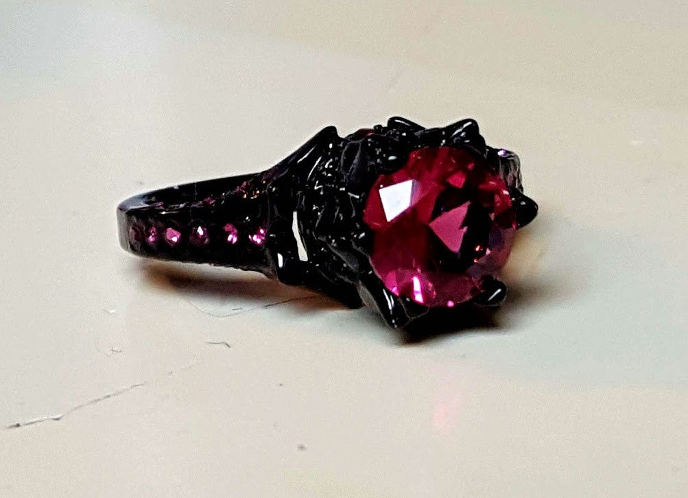 rings knight p armoury from gothic dark red ring rose