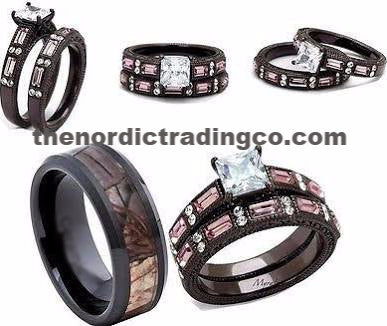Rustic Wedding Rings Couples Womens Chocolate Engagement Ring