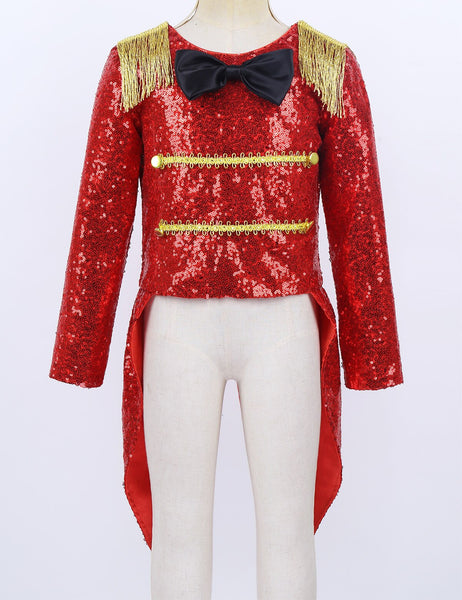 Greatest Showman Circus PT Barnum Inspired Costume Jacket Top Tail Bow Tie ages 3 - 8 Boys Girls Unisex Birthday Halloween