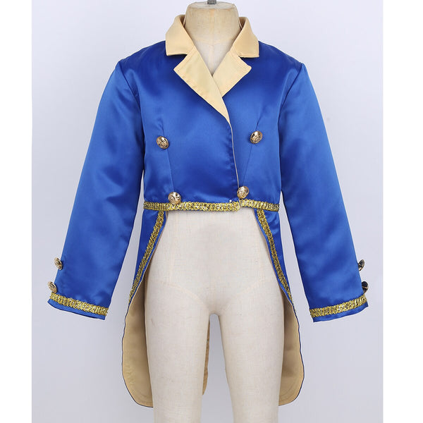 Boys Beast Costume Prince Beauty and the Beast Jacket w/ Tails Tail Coat First Birthday ONE Party Boy's Halloween Costume Crown Outfit Disney Insp Character