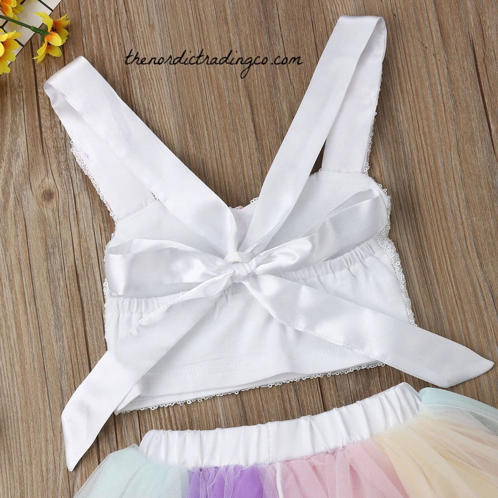 a85d5b6bcc69 ... Girl's Bunny Outfit Pastel TuTu Skirt Sequin Top Bunnies Face 2 pc  Outfit Clothes Kids Childrens