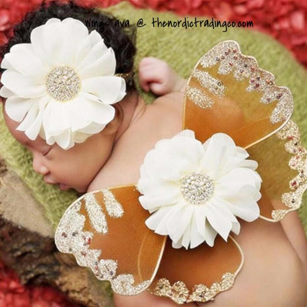Infant butterfly wings newborn girl's girls photo prop set