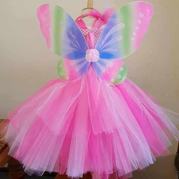 Butterfly Fairy Tutu Garden Party Dress Birthday Girl Dresses Faerie Pixie Costumes Mythology