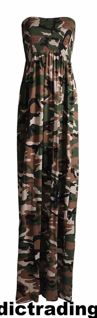 Gifts for the Military Mommy to Be Camo Maxi Dress Sleeveless Maternity Photo Prop Casual Maternity Dress L or XL