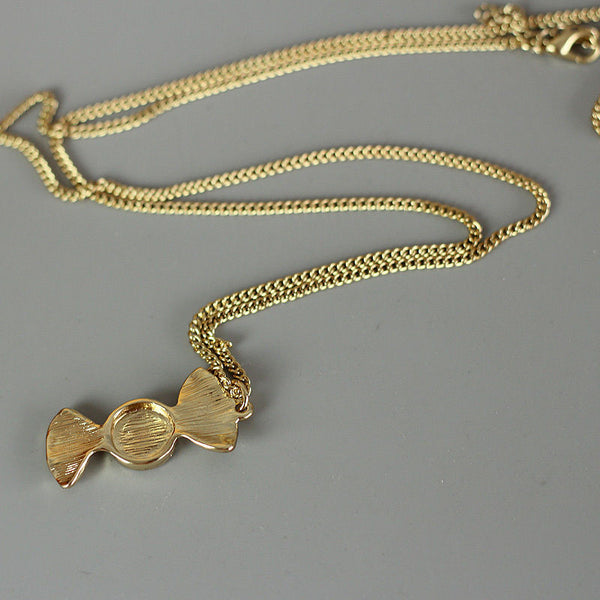 Marc Jacobs Candy Wrapper Pendant in Gold Women's Jewelry Necklace Charms Accessories Gifts for Her