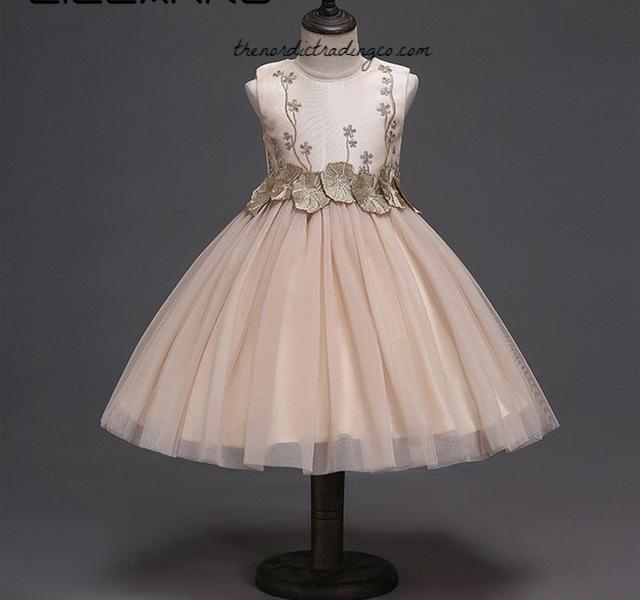 Rose Gold Champagne Flower Girl Dress sz 2-11 #94786486278 Product#