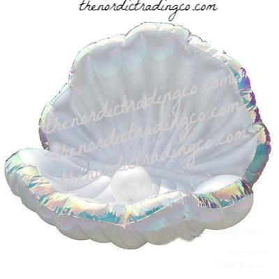 Mermaid Party Giant Clam Shell Lounging Float & Pearl Fun Pool Accessories Props Ships from USA Inflatables Seating Kids Children's Adults Adult