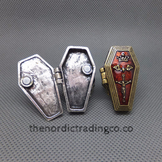Full Metal Alchemy Hinged Poison Coffin Ring USA Seller size 9 Collectible Anime  Goth Gothic Halloween Steampunk