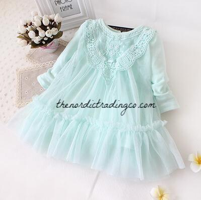 Baby Girl S Cotton Candy Colors Lace Tulle Ruffles Princess Girl