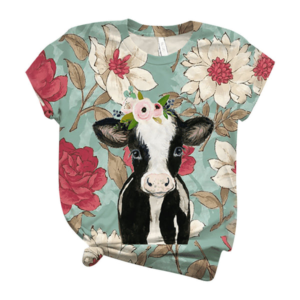 Heifer Couture Womens Cow T Shirt for Girls That Love Cows Women Tops T-Shirt Farm Barnyard Animal Shirts Clothes Clothing Farming Mom Top Small - 3XL